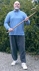 Mike Garofalo con el bastón