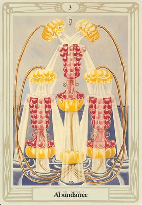 Three of Cups ( 3 Hearts, Chalices), Tarot Minor Arcana