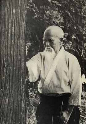 Moreihei Ueshiba - Tree Hugger